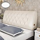 GDHSALE Bett Rückenlehne Kissen Bett Kissen ohne Kopfteil Hochwertige Leder große weiche Kissen Lendenwirbelstütze abnehmbar und waschbar 10 Feste Farben 5 Größen erhältlich
