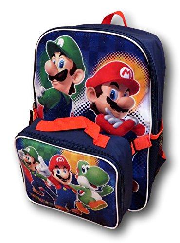Nintendo Super Mario Bros. Mochila con Desmontable aislado almuerzo caja