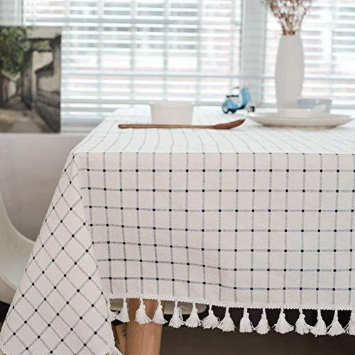 Meiosuns Tischdecke Tischdecke Stoff Karierte Tischdecken im mediterranen Stil Frische und...