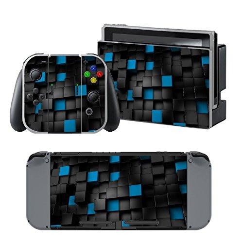 Nintendo Switch skin , Stillshine Qualitäts-Ganzkörper -Abdeckung Kühle Version Abziehbild-Aufkleber-Vinylhaut für Nintendo Switch + 4PCS Thumb Grip (Stil 3)