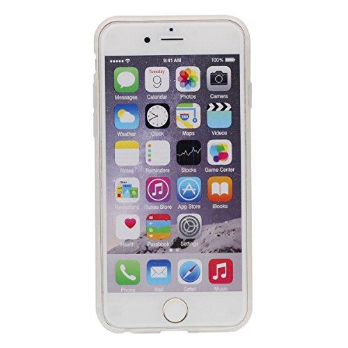 Coque Pour iPhone 6 Plus 5.5�? iPhone 6S Plus Case, Joli Wood Grain Apparence, Mince Lumineuse Style Translucidité Côtés Flexible TPU Matériel Color-4