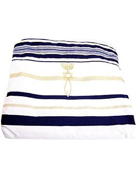 Nueva Pacto chal de oración, Inglés/hebreo & bolsa (Israel) Tierra Santa