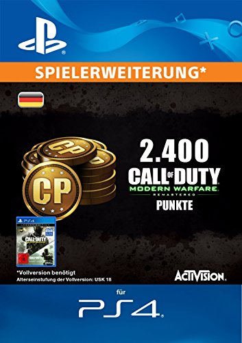 Call of Duty: Modern Warfare Remastered 2400 Points Edition [PS4 Download Code - deutsches Konto]