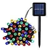 lederTEK Solar Powered Waterproof Fairy String Lights 39ft 12m 100 LED 8 Modes Christmas Decorative Lamp for Outdoor, Garden, Home, Wedding, Xmas New Year Party (100 LED Multi-color)