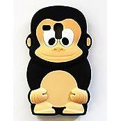 """Silikon TPU Case 3D Affe Schimpanse schwarz für """"Samsung Galaxy S3 Mini"""" Handy Tasche Schale Schutz Hülle Bumper Back Case Cover"""