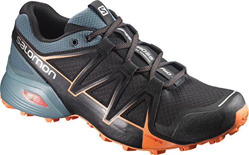 Salomon Herren Speedcross Vario 2 Trailrunning-Schuhe, Mehrfarbig (Bk/North Atla/Scarlet), 42 EU