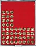 Münzbox STANDARD mit 80 runden Vertiefungen für Münzen mit Ø22,25 mm