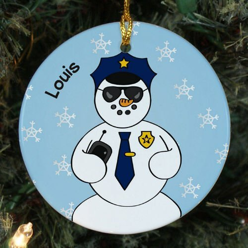 hmuck Personalisierte Police Schneemann Ornamente für Xmas Tree zum Aufhängen ()