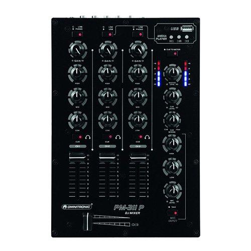 Omnitronic 10006879 PM-311P DJ-Mixer mit Player