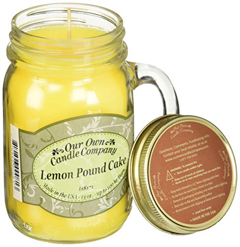 (Our Own Candle Company Our Own Lemon Pound Cake Scented 13 Ounce Mason Jar Candle by 2 Pack, P)