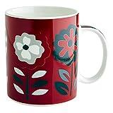 Fairmont & Main Crimson Bunch China Mug, Bone China, Red/Black