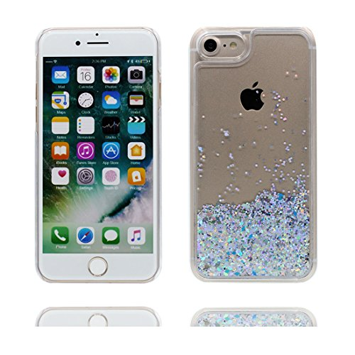 """iPhone 7 Coque, Bling Glitter Flowing Funny Silicone Ultra Slim ( blanc), Case iPhone 7 Étui 4.7"""", Shock Dust Resistant Shell iPhone 7 Cover 4.7"""" # 2"""