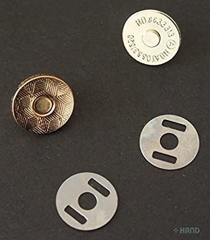 5 Full Sets Magnetic Buttons, Snap Bag Magnetic Clasp Press Pattern - Gold, 18mm