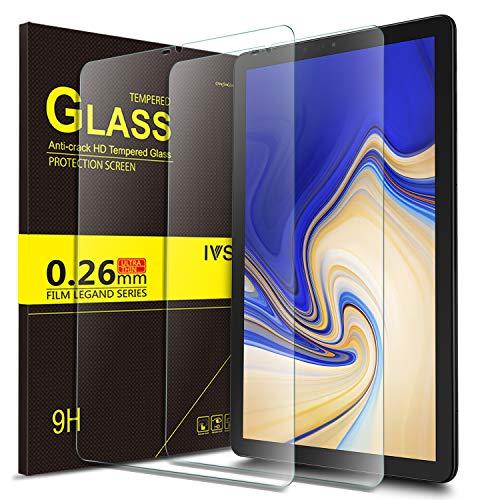 IVSO Templado Protector para Samsung Galaxy Tab S4 10.5 SM-T830N/T835N, Premium Cristal de Pantalla de Vidrio Templado para Samsung Galaxy Tab S4 SM-T830N/T835N 10.5 pulgadas 2018, 2 Pack