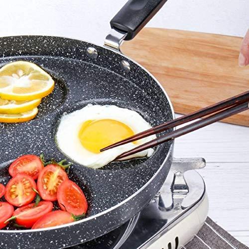 BEIHG 4 Loch Frühstück Omelett Bratpfanne Aluminium Antihaft Pfanne Ei Knödel Hamburg Pfannkuchen Maker Crêpe Griddles Mit Ölbürste