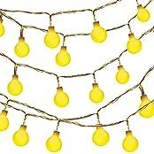 Dailyart® 40er 13feet Globe String Licht Sternenlicht für Garten, Haushalt, Hochzeit, Weihnachtsfeier, Batteriebetrieben (beige)
