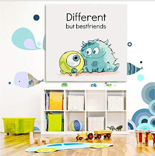 asd137588 DIY Cartoon Monsters Inc Wandposter Digitale Farbe Nach Zahlen Monsters University Home Dekoration Für Kinder (Mädchen Aus Monster Inc)