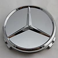 4x Originale Mercedes Benz ruota Coperchio decorativo corona d' alloro argento tappo coperchio mozzo coperchio coprimozzo coperchio mozzo ruota Coperchio decorativo Wheel Cap a17140001255337stella Hub Cap classe e classe C CL CLS SLK ML GLK classe A classe B W204W212W210W221W220C209W207W246Diametro: 75mm