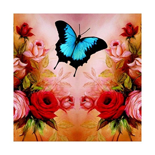 Diamond Painting,YOun Butterfly 5D Diamond Painting Embroidery DIY Mosaic Cross Stitch Decor(A)