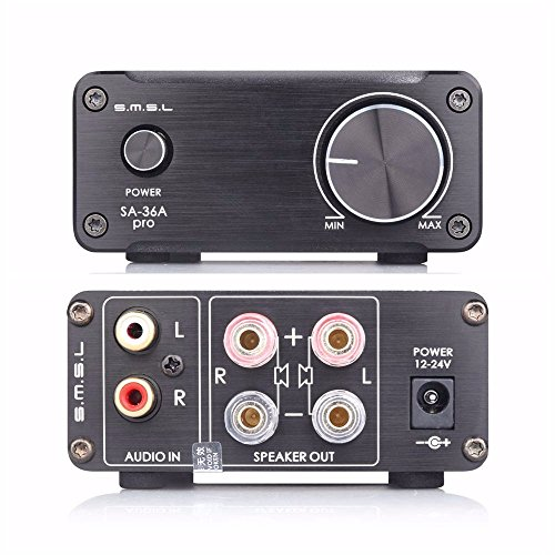 smsl-sa-36a-pro-hifi-integrated-mini-digital-stereo-audio-20wpc-amplifier-amp-power-supply-black