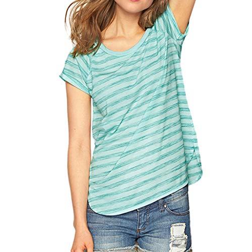 Damen T Shirt, CixNy Bluse Damen Kurzarm Sommer Art Und Weise Lose Hülse Stern Gedruckt Beiläufig Oberteil ()