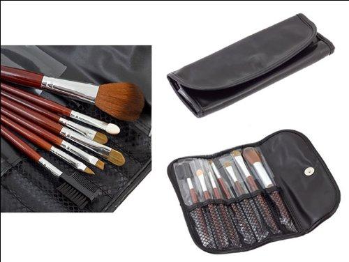 Preisvergleich Produktbild PREMIUM Professionelles Echthaar Pinsel Set (7 Teile) im Leder-Etui