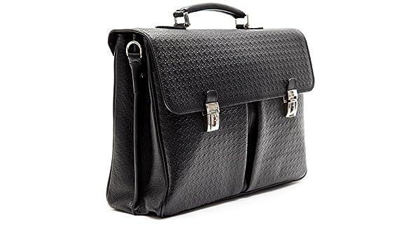 2454fe7bbd BILLIONAIRE Borsa Messenger Tracolla Uomo Donna 24h Nera Pelle Business Bag  Men Woman Black 2 Pak BLC50406042: Amazon.it: Scarpe e borse