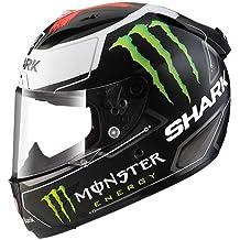 Shark Race-R PRO - Casco de moto, Jorge Lorenzo, Monster, talla M, color negro/blanco