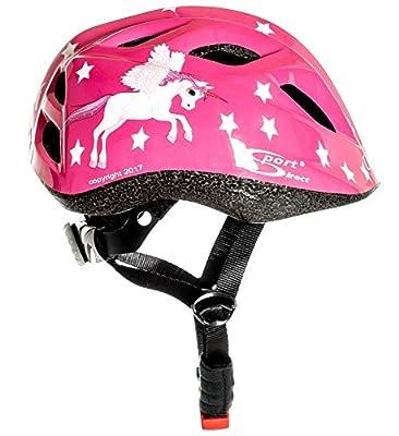 Sport Direct FREE LIGHT SET Flying Unicorn Helmet Kids Girls Pink Unicorn 48-52cm from Sport Direct