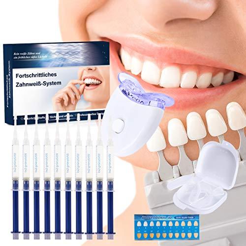 Zahnaufhellung Gel, Teeth Whitening Kit Ohne Peroxid Professionelle Zahn Whitening Kit,Gegen Gelbe Zähne,Rauchflecken,Schwarze Zähne -