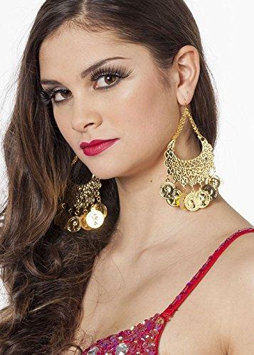 Damen Zigeunerin Kostüm Goldmünze (Zubehör Zigeuner)