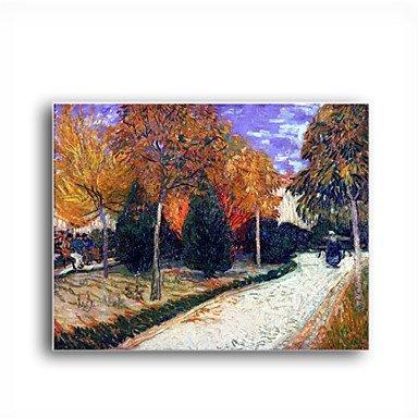 handgemalten Ölgemälde Weg in den Park in Arles, 1888 von Vincent van Gogh mit gestreckten Rahmen -