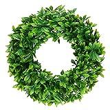 Famibay Buchsbaumkranz Künstlich Grün Buchskranz 17