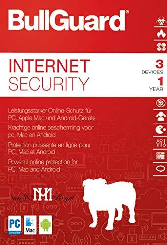 BullGuard Internet Security 2019 | Full Package Box | 1 Jahr / 3 Geräte | Von MH-Royal Royal Pda