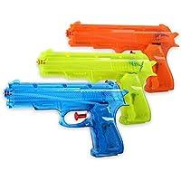 Schramm 3er Pack Wasserpistole Klassiker ca. 17cm Wasserpistolen Wasser Pistole Water Gun Watergun Wassergewehr Wassergewehre