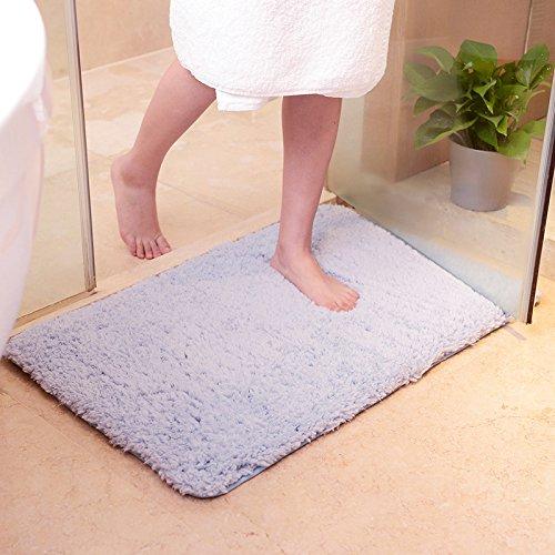 Preisvergleich Produktbild Lx.AZ.Kx Fußmatten Dicke Lamm wolle samt Modernes Wohnzimmer Schlafzimmer Matten die Zimmer im Bett zu absorbieren Wasser, weiche Teppiche Hellblau, 50cm*80cm