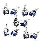Netzteil-Verbindungsstecker Self Locking Miniatur Kippschalter Schalter 3 Pin SPDT On/On AC125V 6A