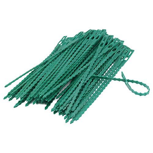 KINGLAKE 17,5 cm Pflanzenbinder Einstellbar 110 Stück, Pflanzen Anbinder Kunststoff Schnellbinder für Pflanzen Unterstützung