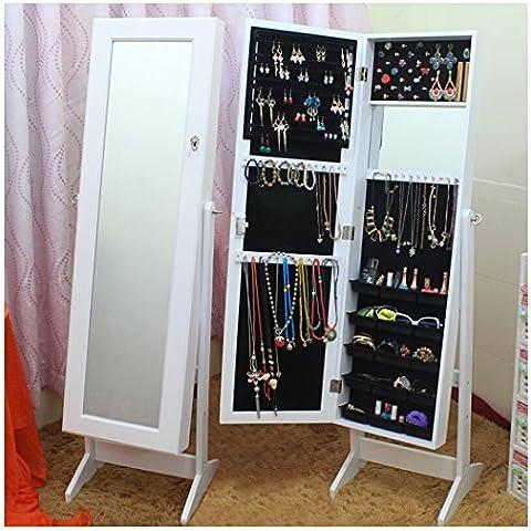 Outgeek gioielli specchio collane gioielli armadio armadio con supporto regolabile