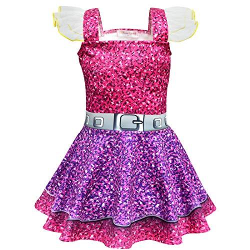 Blumendruck Fancy Party Dress up Kostüm Kinder Childs Outfit Überrascht Puppen Cosplay Geburtstag Urlaub Kleidung,100cm ()