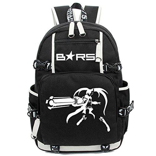 Siawasey Black Rock Shooter Anime Cosplay Luminous Segeltuch Daypack Laptop Rucksack Schultertasche ()