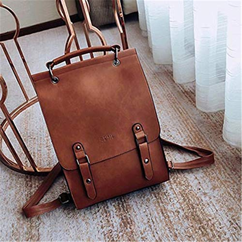 PU Leather Schoolbag Casual Daypacks Traveling Backpack Large Capacity Daypack Laptop Bags School Bag Shoulder Backpacks ()