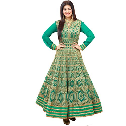 Impressed Collection Charismatic Ayesha Takia Green Color Long Length Salwar Kameez In...
