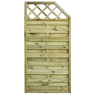Avanti Trendstore - Cremona - Abschlusslement, eckig, aus Holz für den Garten oder Balkon. Maße: BHT 90x160/180x4,5 cm