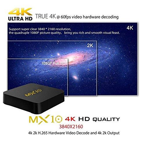 MX10 Android 8 1 OS RK3328 Quad Core 4GB 32GB 4K HDR TV BOX 802 1 1 b g n WIFI LAN VP9 HD USB3 0