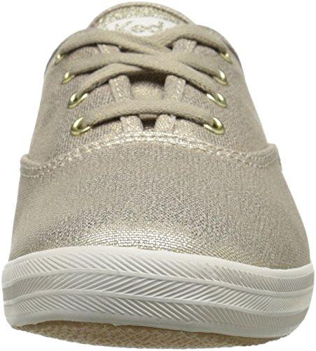Keds Damen Champion Lavato Metallizzato Twill Sneaker Oro (oro)