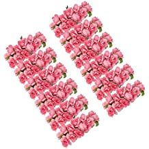 SuntekStore Online - Aprox. 144pcs mini paper rosa de la flor por craft favor de la boda (rosa )