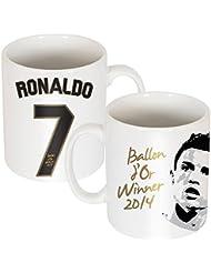 Ronaldo Globo D 'or Mug Blanco blanco Talla:eine Gr÷e