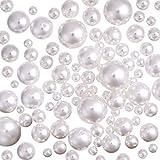 80 Stücke Sortierte Größe Simulierte Perlen Dekoperlen Kunstperle für Vase Fillers, DIY Schmuck, Hochzeit, Geburtstagsfeier Haus Decoration, Weiß