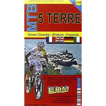 Mtb 5 Terre. Carte Dei Sentieri Di Liguria Per Mountain Bike Mtb Vtt
